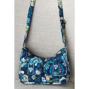 Vera Bradley Mod Floral Blue Crossbody Purse